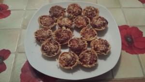 Bouchées oignons lardons terminées